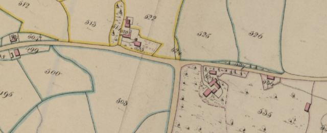 Cheshire Tithe Map Macclesfield 1840 (detail) - Cheshire Archives & Local Studies EDT 254-2