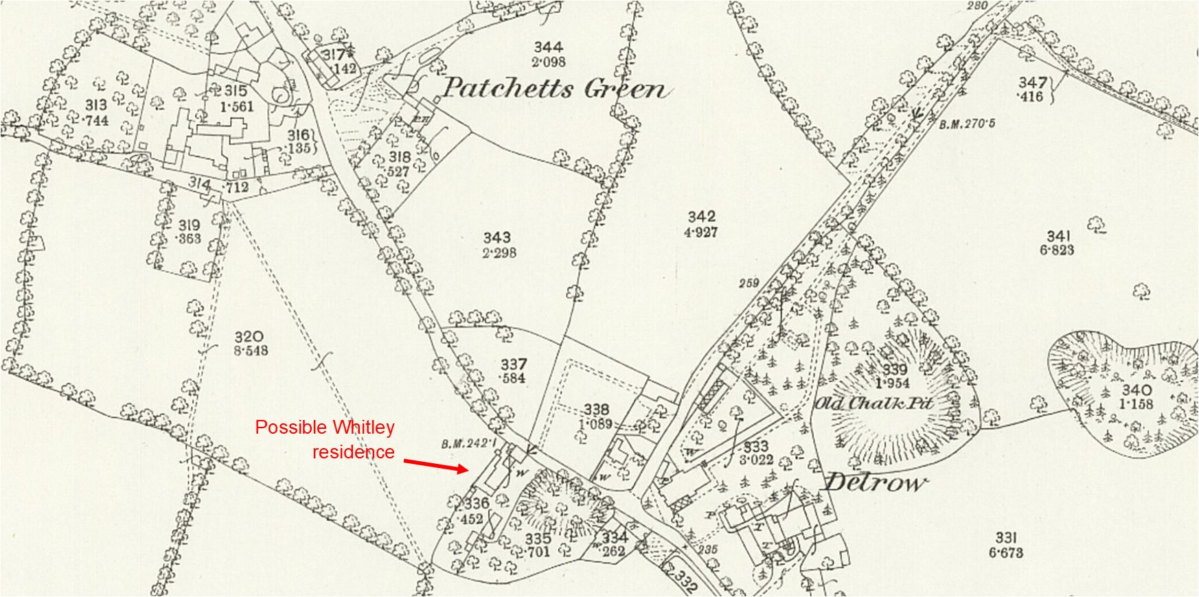 1872-Ordnance Survey 25 inch map Hertfordshire XLIV.3 (detail) - National Library of Scotland