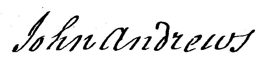 John Andrews 1801