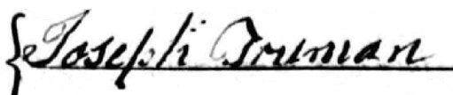 Joseph Truman 1773
