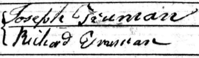 Joseph Truman 1776