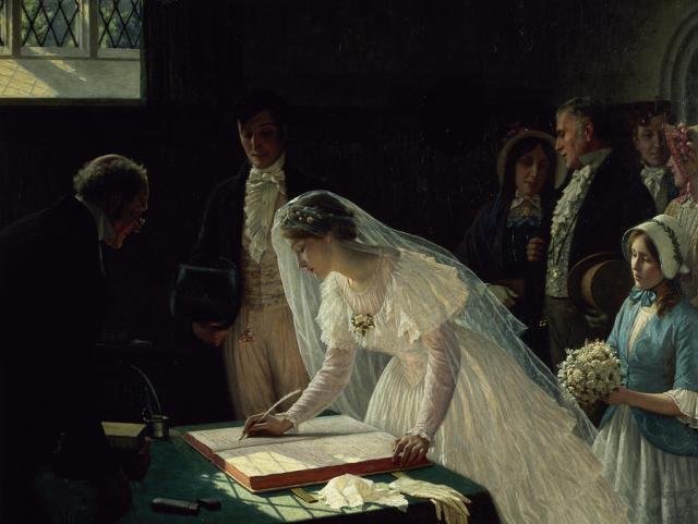 signing-the-register-edmund-blair-leighton