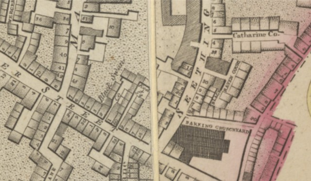 1792-1799-Horwoods Map of London (detail)