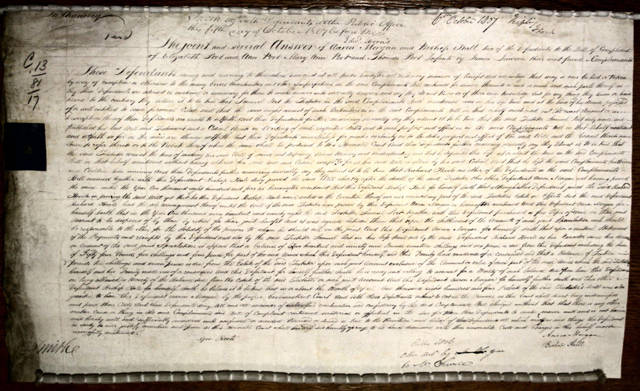 Chancery Document